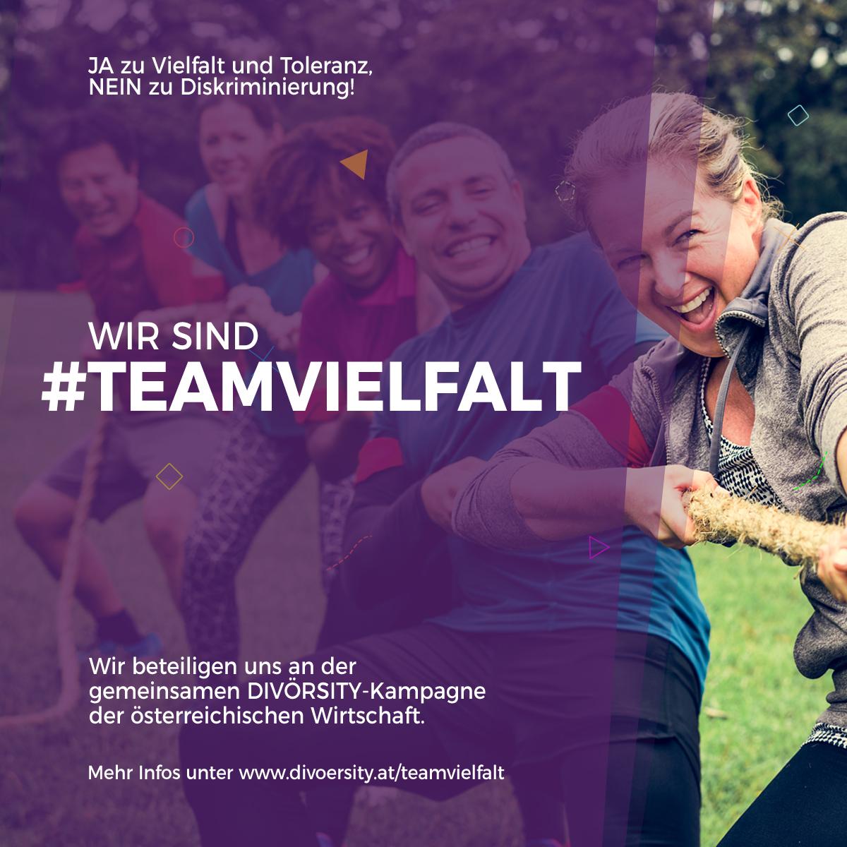 Social-Media-Kampagne #teamvielfalt