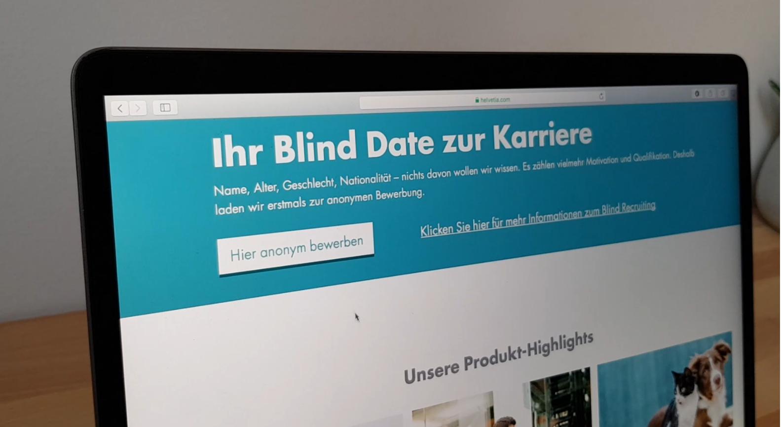 Blind Date zur Karriere